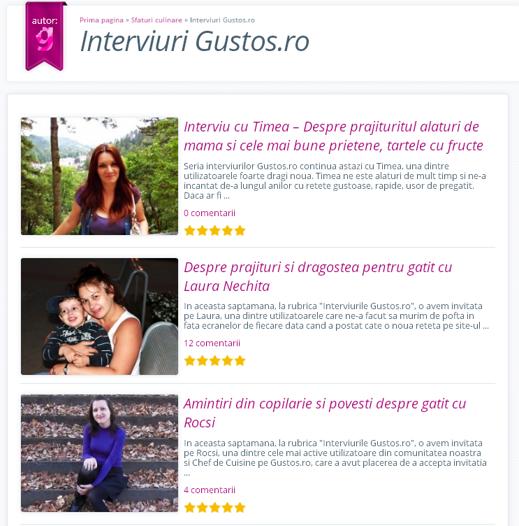 Articole    Interviuri Gustos.ro